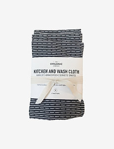 Kitchen and wash cloth (3-pack) - doeken en afwasborstel - 111 evening grey