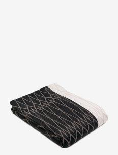 Bed Blanket - blankets - 891 dark grey and pale rose