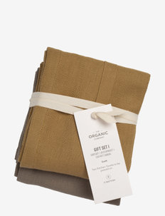 Gift set I (2 kitchen towels) - keittiöpyyhkeet - 951 earth set color mix