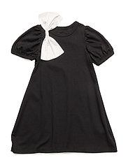Twist Top Dress - BLACK & WHITE