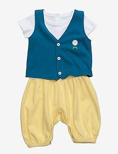 The Tiny Swede Boy - krótki rękaw - blue & yellow