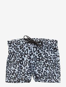Swim Trunks Snow Leopard boys - swimshorts - black & white