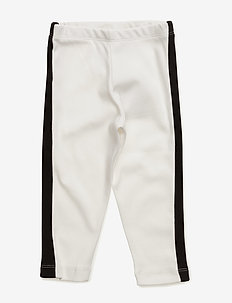 Leggings - leginsy - off-white with black facing