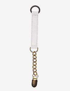Pacifier Clip - pacifier clips - white & gold