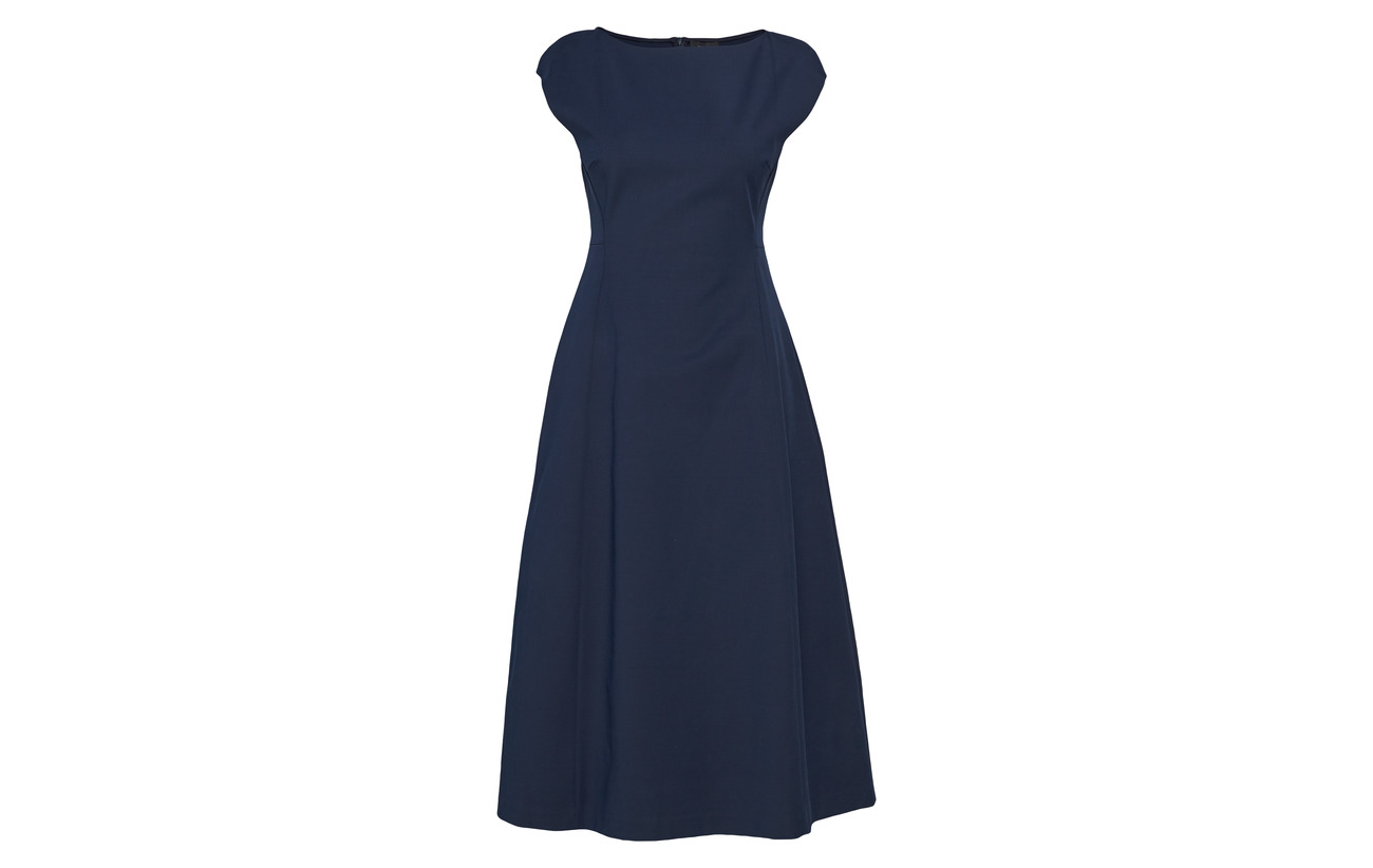 Theory 90 Dress 10 Royal Boatneck Tulip Coton Elastane Deep Fq4xFpr