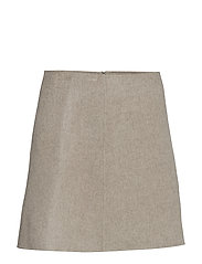 PANELED DF SKIRT.NEW - YDB.TAUPE GREY