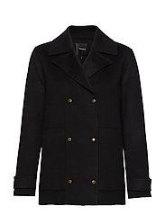 Theory SHORT TRENCH DF.NEW - 001.BLACK