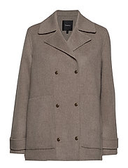 SHORT TRENCH DF.NEW - YDB.TAUPE GREY