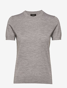 BASIC TEE P.REGAL WO - COOL HEATHER GREY