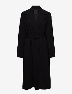 SIMPLE TRENCH B.CLAS - trencze - black