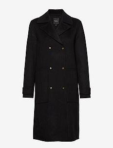 MILITRY TRNCH DF.NEW - manteaux en laine - 001.black
