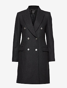 TAILORED COAT.HEAVY - CHARCOAL MELANGE