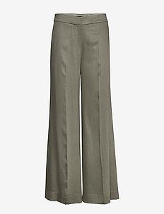 FLUID WIDE PANT.DRAP - pantalons larges - sage