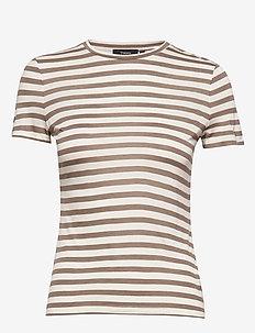 TINY TEE 2.STRIPE MO - striped t-shirts - ivory multi