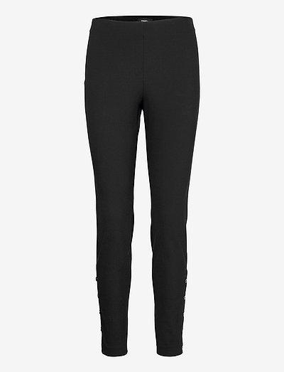BUTTON LEGGING.ECO N - leggings - black