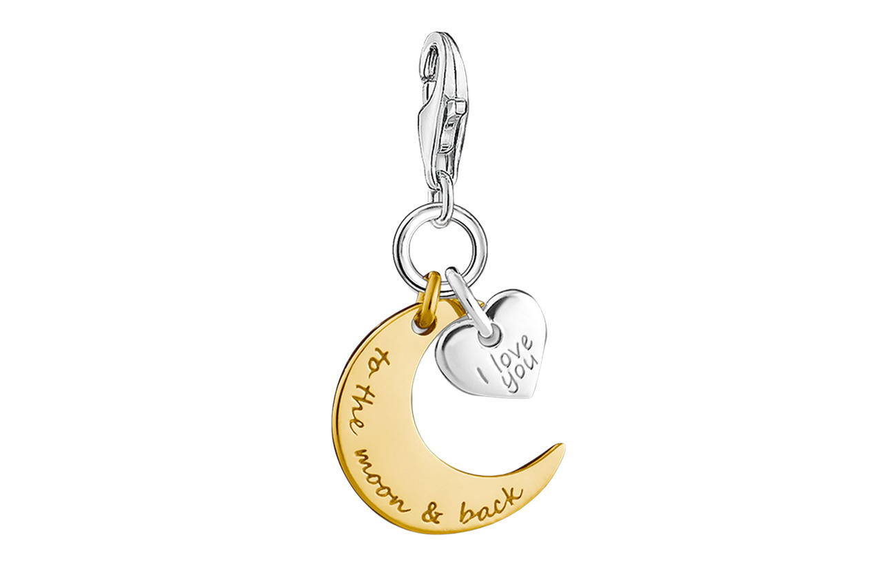 "Thomas Sabo Charm pendant ""moon & heart I LOVE YOU TO THE MOON & BACK"" - GOLD"