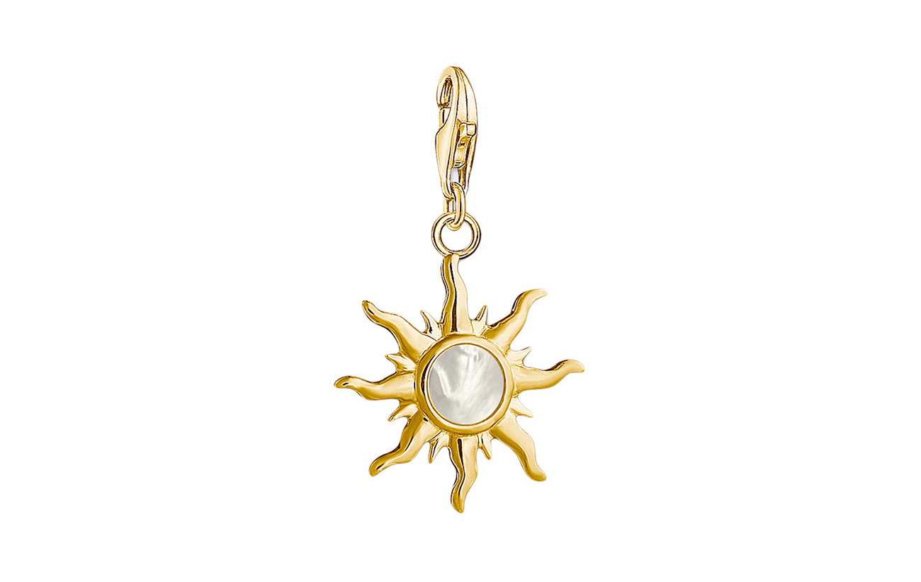 Thomas Sabo Charm pendant Sun with mother-of-pearl stone - GOLD