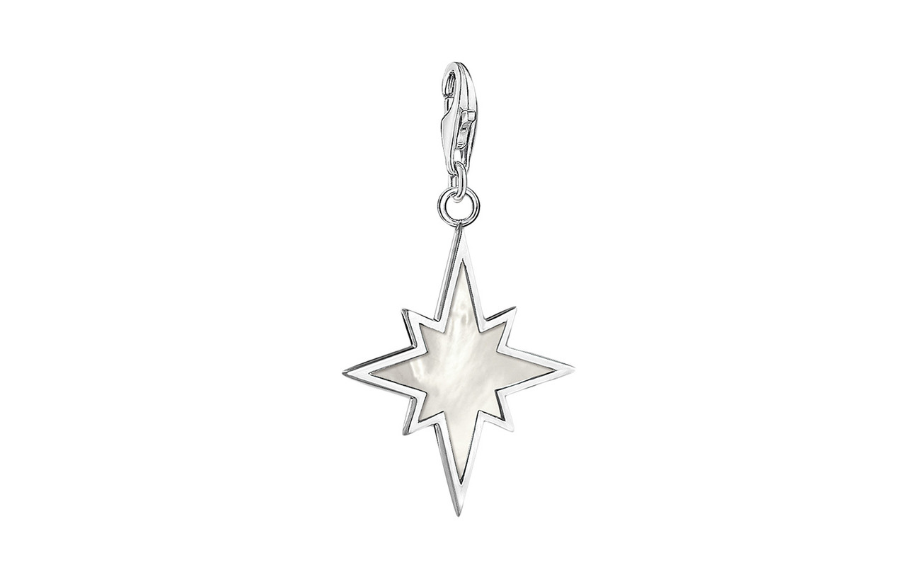 Thomas Sabo Charm pendant star mother-of-pearl - SILVER