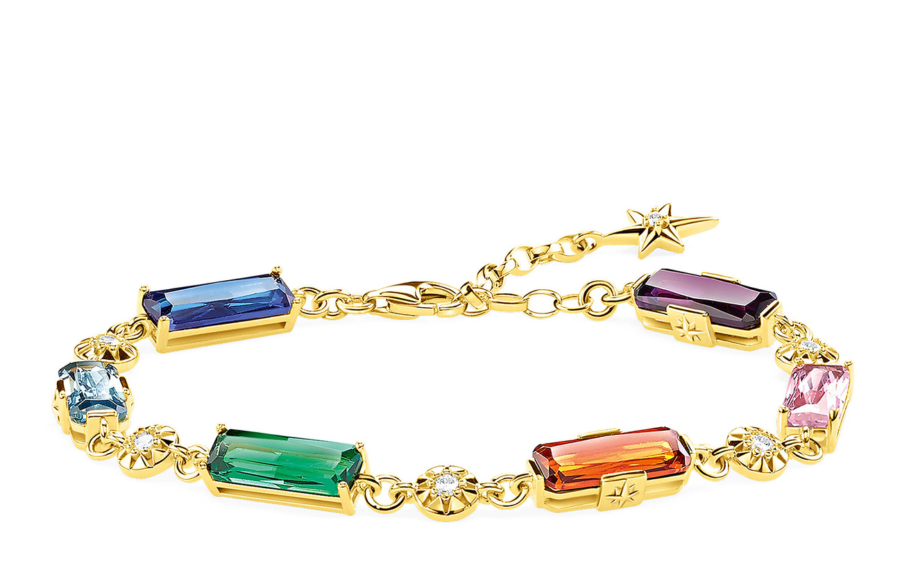 Thomas Sabo bracelet Colourful stones with golden stars - GOLD