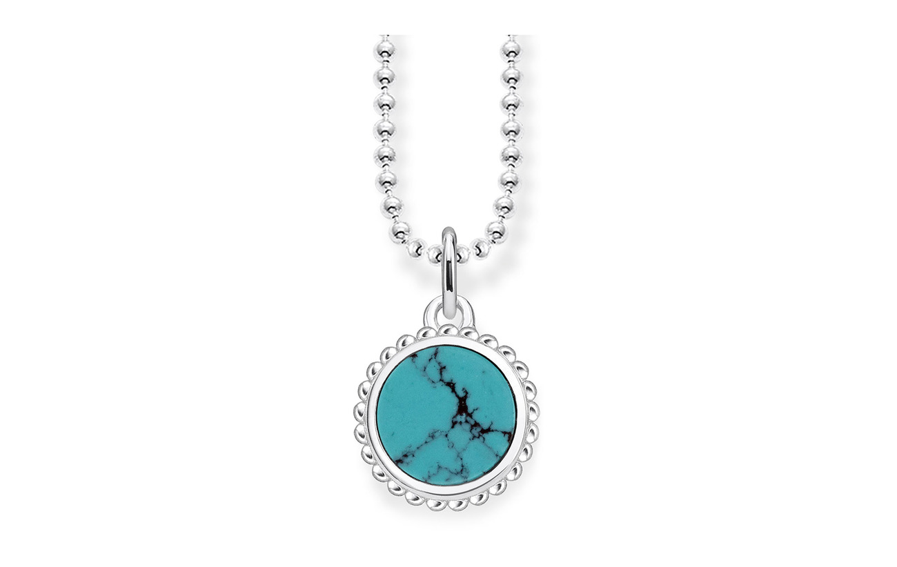 "Thomas Sabo necklace ""turquoise"" - BLUE"