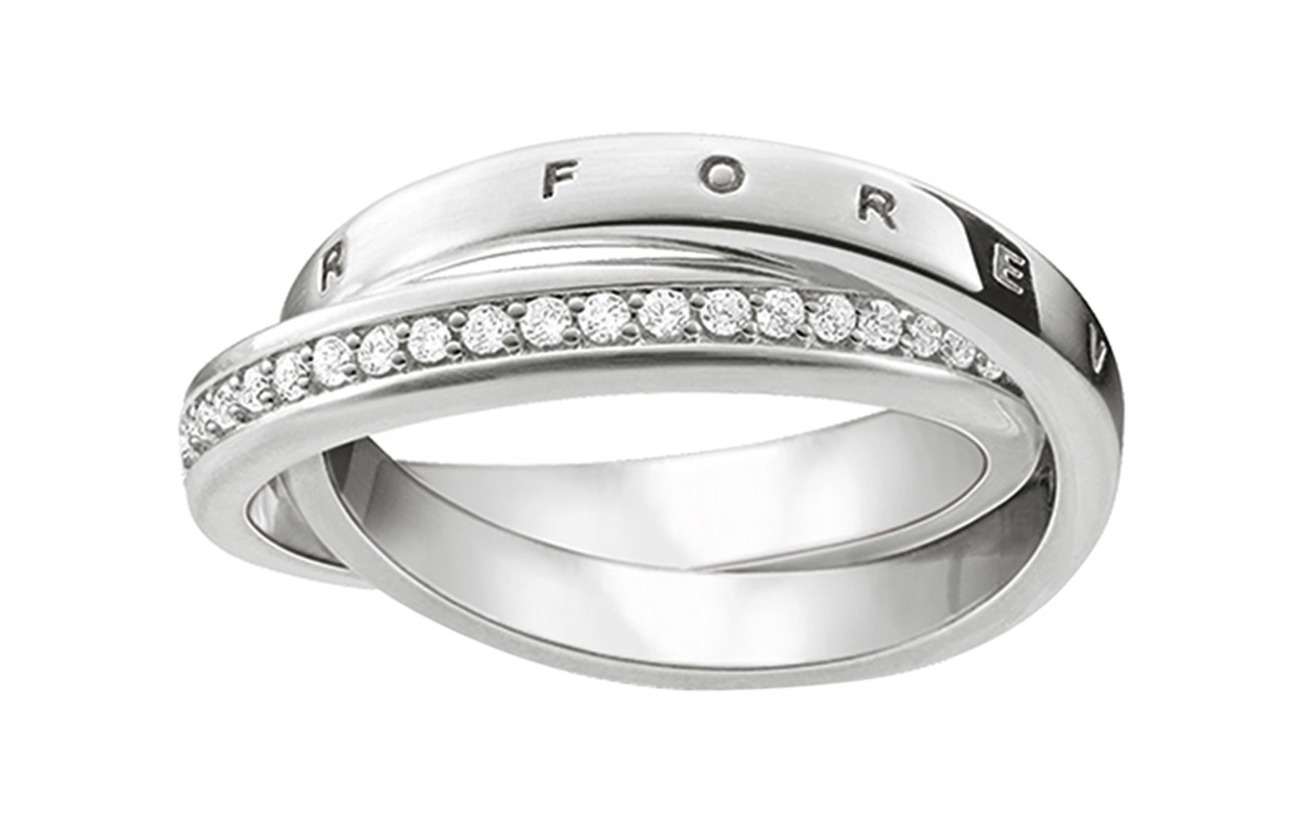 "Thomas Sabo ring ""TOGETHER FOREVER"" - SILVER"