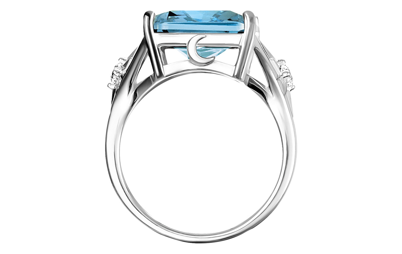 Thomas Sabo Ring Blue stone,  large,  with star - BLUE