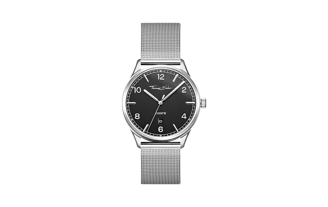 "Thomas Sabo Watch unisex ""CODE TS silver black"""