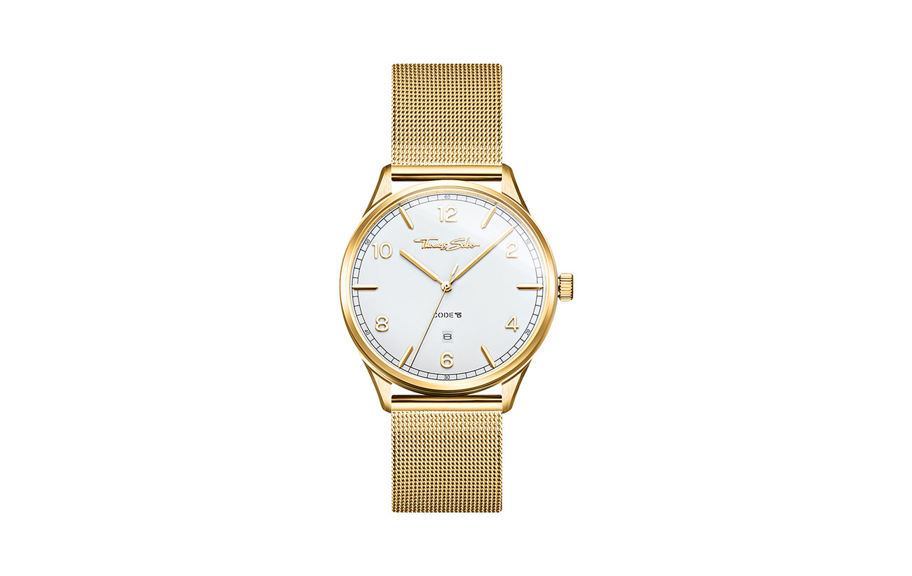 "Thomas Sabo Watch unisex ""CODE TS yellow gold"""