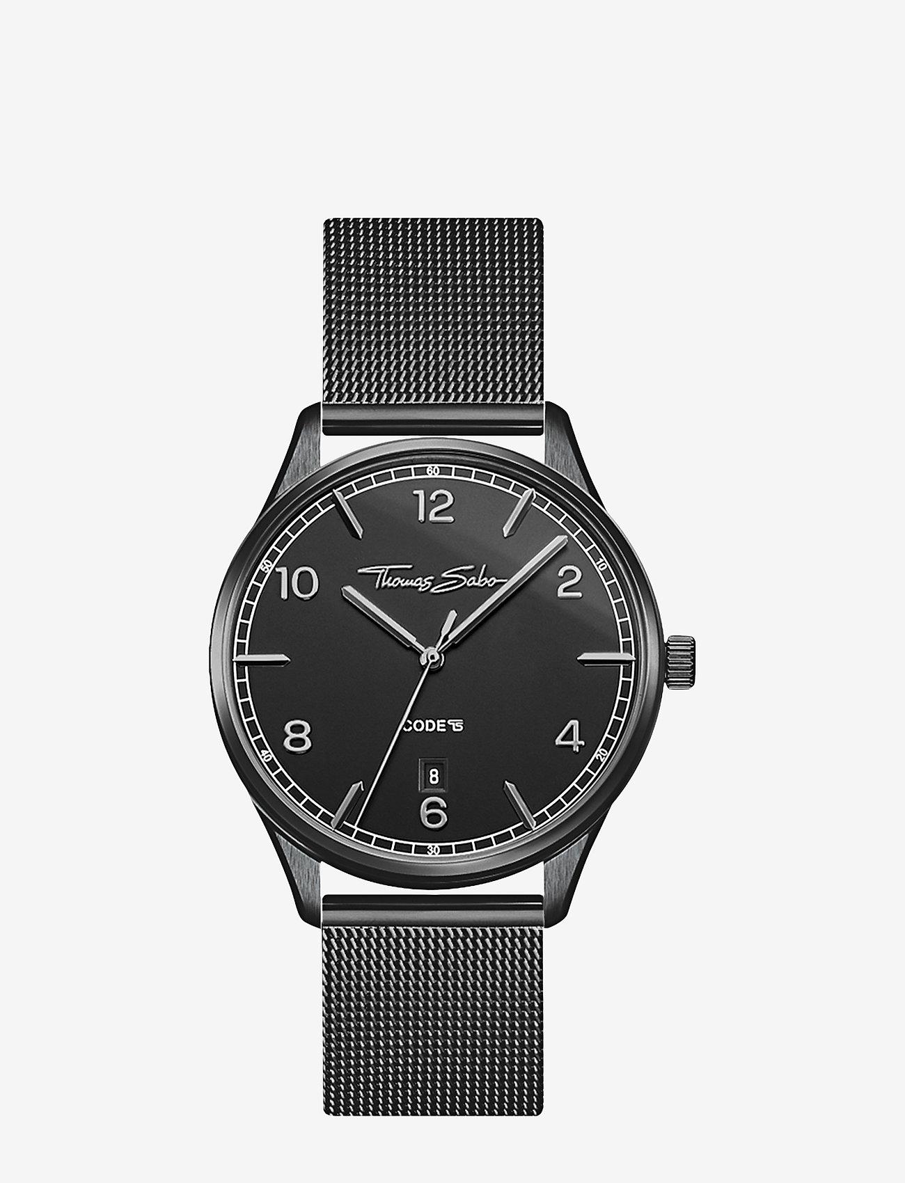 Thomas Sabo - Women's Watch Code TS small schwarz - klockor - silver-coloured - 0