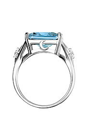 Ring Blue stone,  large,  with star - BLUE