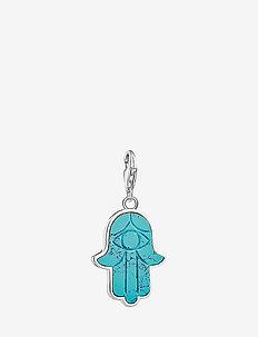 Charm pendant Hand of Fatima - BLUE