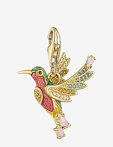 Charm-Pendant Hummingbird gold - pendentifs - yellow gold-coloured