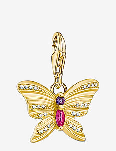 Charm-Pendant Butterfly gold - pendentifs - yellow gold-coloured