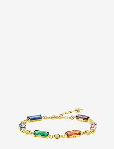 bracelet Colourful stones with golden stars - GOLD