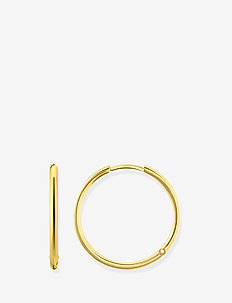 "hinged hoops ""large"" - GOLD"