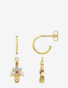 Hoop Earrings Bug gold - YELLOW GOLD-COLOURED
