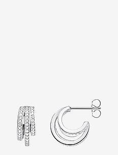 Hoop Earrings Circle silver - SILVER-COLOURED