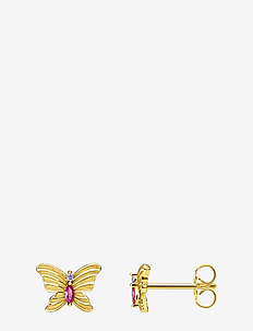 Ear Studs Butterfly gold - nappikorvakorut - yellow gold-coloured