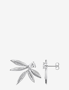 Ear Studs  Leaves silver - SILVER-COLOURED