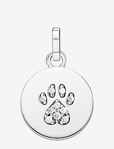 Pendant Coin Paw Cat silver - anhänger - silver-coloured