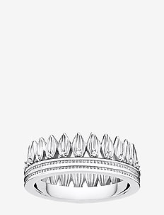 Ring  Leaves Crown silver - SILVER-COLOURED