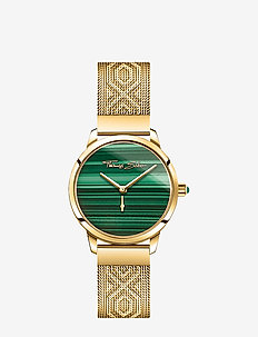 Women's Watch Garden Spirit Malachit gold - klockor - yellow gold-coloured