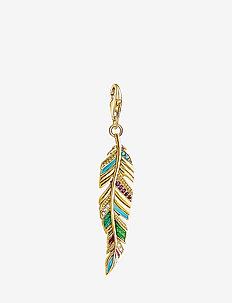 Charm pendant Ethnic Feather - pendentifs - multicoloured