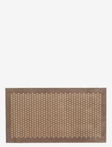 Floormat polyamide, 120x67 cm, dot design - dørmatter - sand/beige