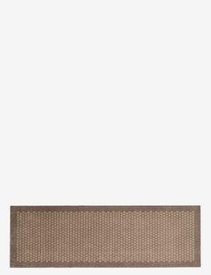 Floormat polyamide, 200x67 cm, dot design - dørmatter - sand/beige