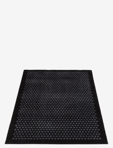 Floormat polyamide, 130x90 cm, dot design - dørmatter - black/grey