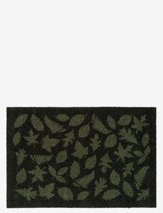 Floormat polyamide, 90x60 cm, leaves design - huonekalut eteiseen - dark gren