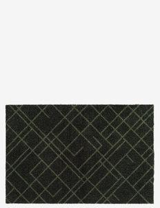 Floormat polyamide, 90x60 cm, lines design - huonekalut eteiseen - dark green