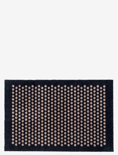 Floormat polyamide, 90x60 cm, dot design - huonekalut eteiseen - black/beige