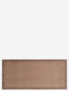 Floormat polyamide, 200x90 cm, dot design - dørmåtter - sand/beige